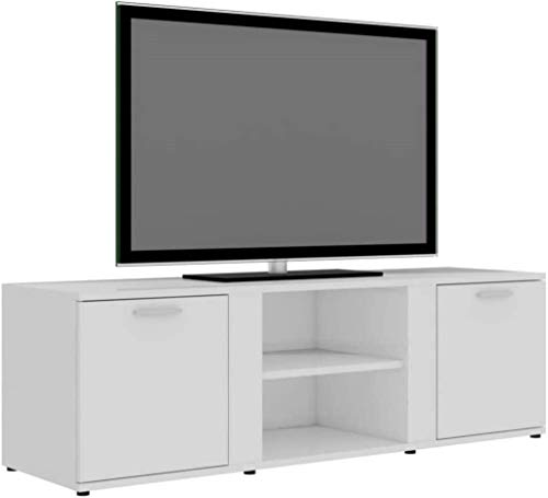 XYSQWZ Mueble para TV Unidad Multimedia para TV Soporte para TV Unidad De Soporte para Pantalla Plana Unidad para TV Consola De Almacenamiento Blanco Brillante 120x34x37 Cm Aglomerado