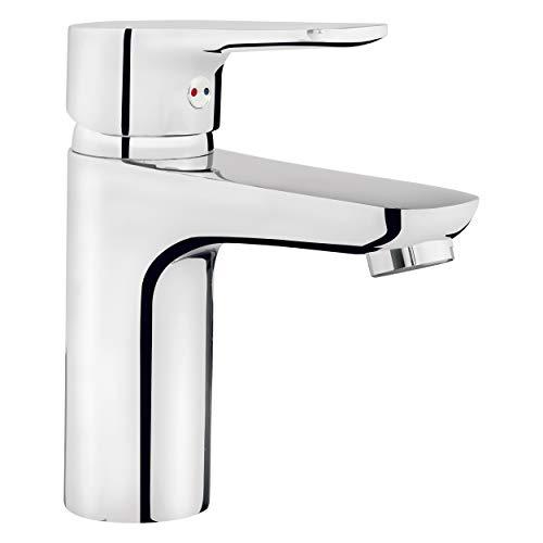 Baliv WT-110 - Grifo para lavabo (cromado, con función de ahorro de agua)