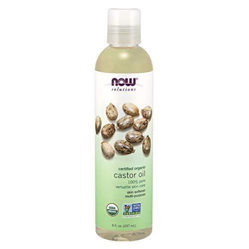 NOW Solutions, Organic Castor Oil, 100% Pure Versatile Skin Care, Multi-Purpose Skin Softener, 8-Ounce