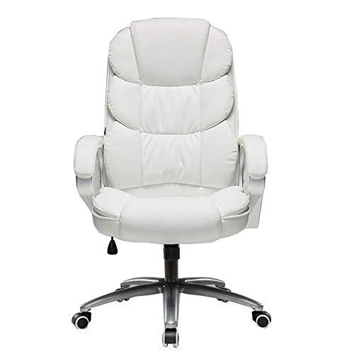 Stuhl Home Office Schreibtischstuhl Haushaltseinfachheit Doppelschichtiges Rückenlehnen-Design Bequemer Sessel Lagergewicht 250 kg 3 Farben (Farbe: Weiß)