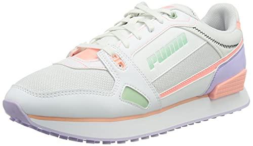 PUMA Mile Rider Pastel Mix WN S, Zapatillas Mujer, Blanco Elektro Peach Light Lavender, 37 EU