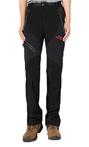 Drying Den Toison d'hiver Thermique Hommes Femmes Pantalons imperméables Pantalons de Sport en Plein air Camping Pantalon de randonnée Pantalon Taille Plus 5XL Women Black XL
