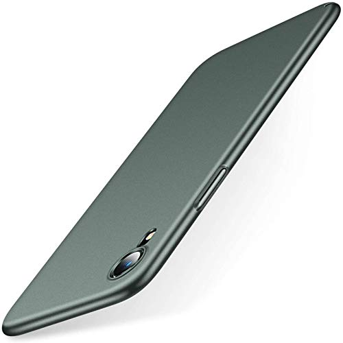 TORRAS Slim Fit Designed for iPhone XR Case, Ultra-Thin [Sturdy Yet Slim] Hard Plastic Full Protective Cover with Comfortable Grip 6.1 inch, Midnight Green