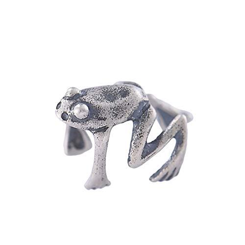 ZYLL 925 Sterling Silber Vintage Frosch Ohr Manschette Frauen Schmuck Geburtstagsgeschenke