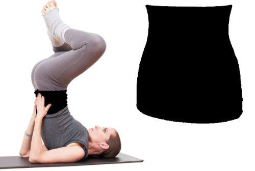 Joga Bekleidung - Shirtverlängerer für Damen / Herren / Kinder Baumwolle Shirt schwarz uni Frau L