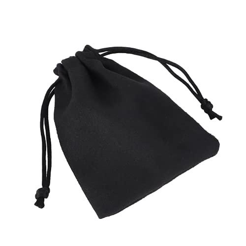 Sacchetto per imballaggio di gioielli in pelle scamosciata `, Sacchetto regalo con coulisse in pelle scamosciata Sacchetto regalo con coulisse Sacchetto regalo con coulisse Durevole Morbido(9*12 cm)