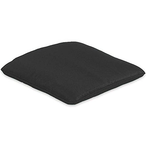 CC Collection Outdoor Furniture Plain Black Garden Armchair Seat Cushion