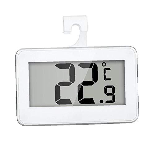 Kacniohen Frigorífico Termómetro Digital Impermeable sin Hilos del congelador de refrigerador del termómetro portátil con Pantalla LCD Grande