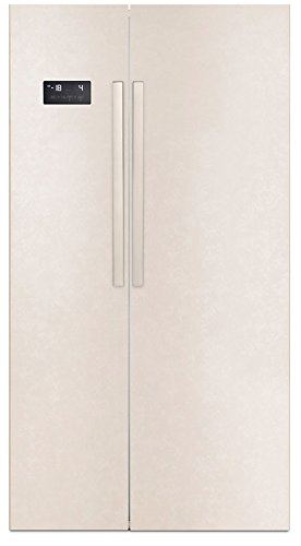 Beko GN163120B Freestanding 543L A+ Sand side-by-side refrigerator - Side-By-Side Fridge-Freezers (Freestanding, Sand, American door, LED, Touch, LED)