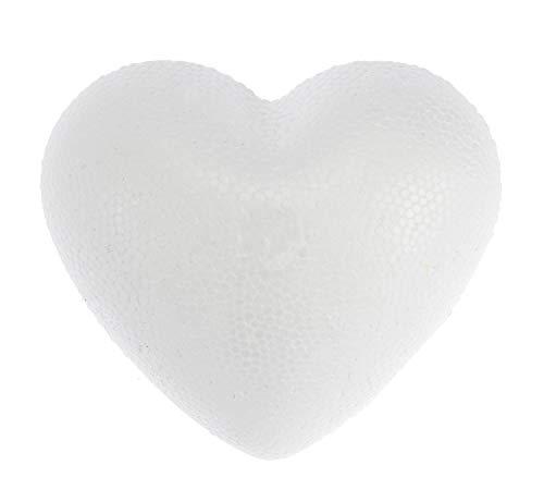 Glorex 6 3803 731 - Styroporherz, weiß, ca. 9 cm groß, 1 Stück, ideal zum Basteln und Verzieren