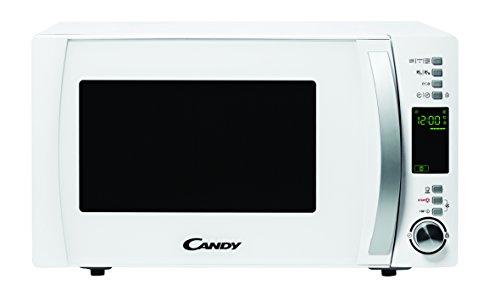 Candy CMXG 25DCW Microondas con Grill y Cook In App, 40 Programas Automáticos, 900 W, 25 litros, Acier INOX, Blanco