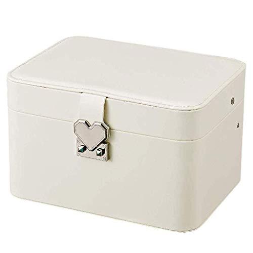 ROSG Joyero - Joyero Femenino Caja de Almacenamiento para joyería de Mano de Gran Capacidad para el hogar Caja de Almacenamiento