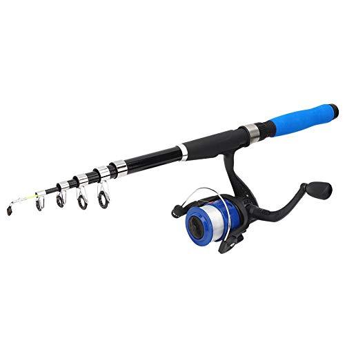 28038-T210BL 2.1m Canne à pêche Portable Ensemble de...