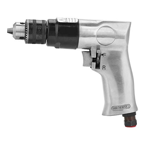 Yadianna Pneumatic Drill, Rotation Air Drill Tool High-speed Reversible for Hole Drilling 3/8' 1700rpm
