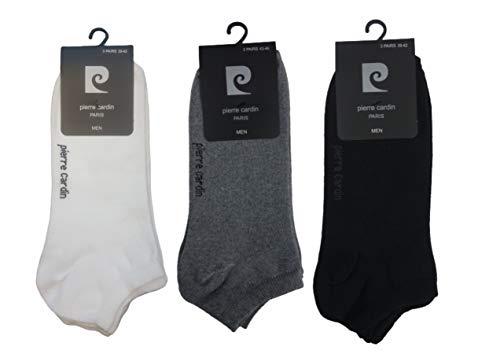 Pierre Cardin 18 Paar Sneakersocken Herren Socken Schwarz Weiss Grau (Mix Set 6xSchwarz-6xWeiß-6xGrau, 43-46)