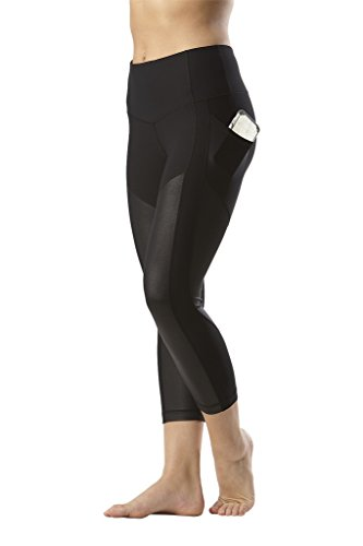90 Degree By Reflex Women's High Waist Athletic Leggings with Smartphone Pocket - Blk - Small