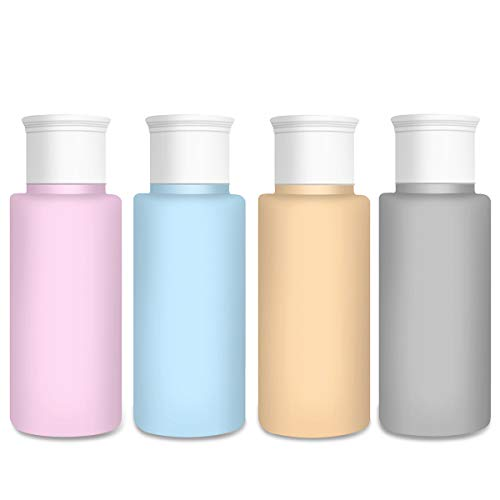 AUPHIL Travel bottles for Toiletries BPA Free Refillable and Squeezable leakproof Travel Bottles Tsa Approved Travel Tubes Liquid Travel Accessories for Cosmetic Containers
