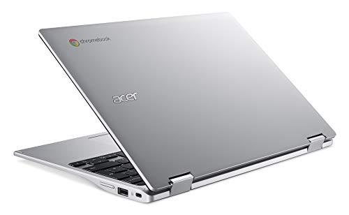 Acer Chromebook Spin 311 (11,6 Zoll HD IPS, MediaTek Octa-Core ARM Cortex A73/A53 (MT8183), 4 GB LPX RAM, 64 GB eMMC, Mali-G72 MP3 GPU, Google Chrome OS) silber, QWERTZ - 6