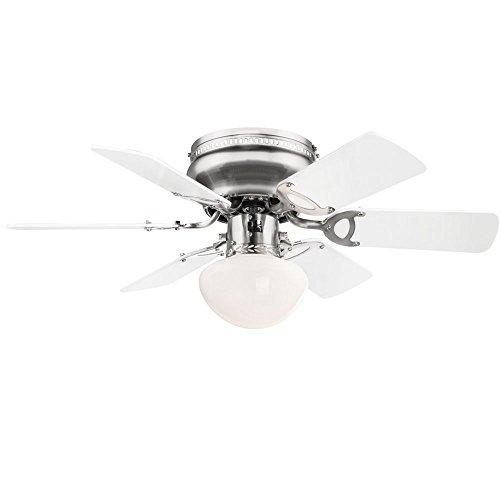 Decken Ventilator MDF Wohnraum Kühler Ess Zimmer Lampe Glas Leuchte Globo 0307W