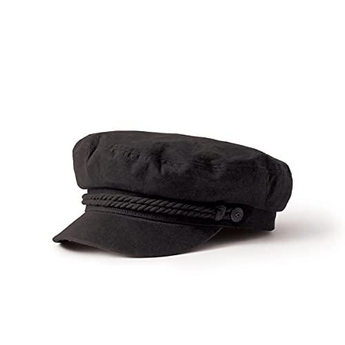 Brixton Unisex Cap Fiddler Cap, schwarz (black herringbone twill), S