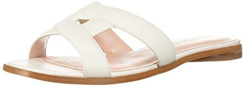 Avec Les Filles Women's Blaye Flat Sandal, off white nappa, 10 M US