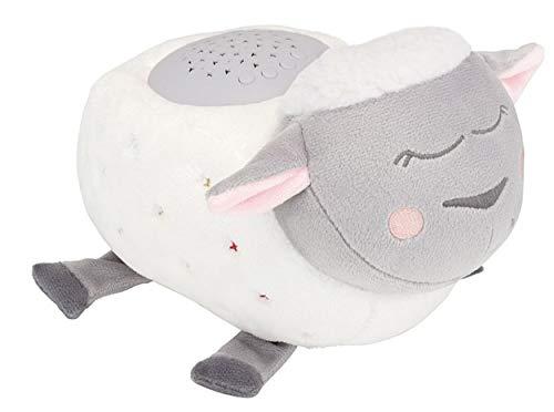 Badabulle Nachtlicht Lulu das Schaf - mit Sternenhimmel Projektor, 12 Melodien und Timer