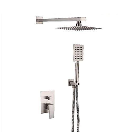 BINGFANG-W Kit de ducha de pared de la bañera grifo de acero inoxidable grifo de la ducha termostática de ducha ducha Mezclador de ducha de plata Ducha