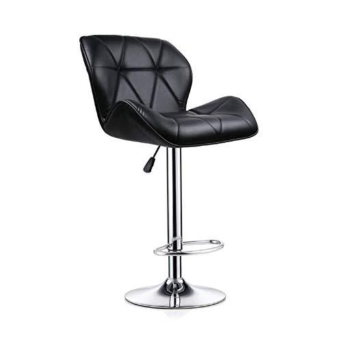 NAN liang Tabourets réglables pour le comptoir de cuisine, chaises hautes pivotantes et réglables avec chaises chromées modernes pour salle à manger à base de chrome (noir, rose, beige)