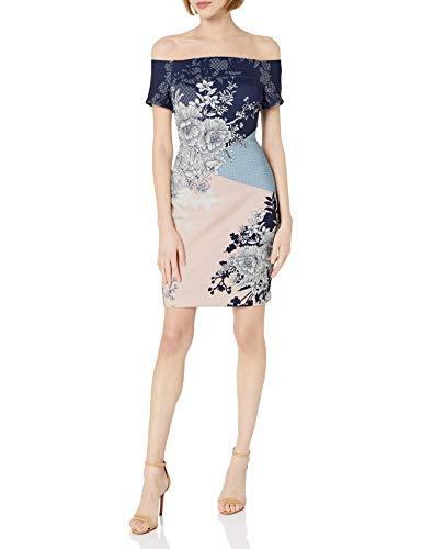 GUESS Women's Multi Printed Scuba Dress, 6