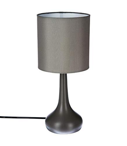 Lampe de chevet tactile gris
