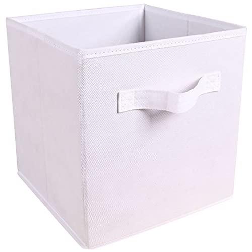 Bolsa de Almacenamiento portátil, Caja de Almacenamiento Plegable Ropa de Almacenamiento de Ropa para Juguetes Organizadores Cestas para la Oficina de viveros (Color : White)