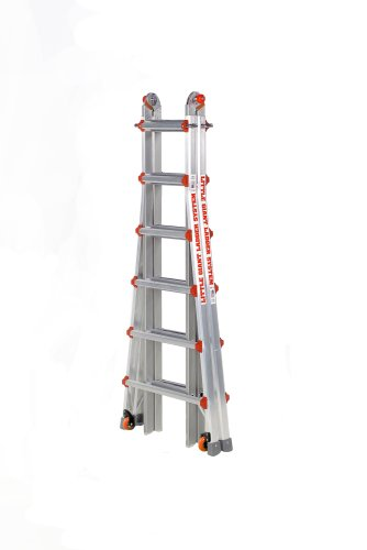 Little Giant Classic 10126LGW 300-Pound Duty Rating Ladder System with Work Platform, 26-Foot