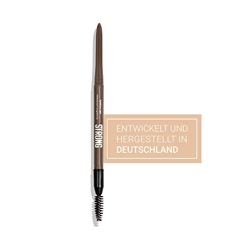 STRONG fitness cosmetics ® I Eyebrow Pen (Mittelbraun) I Waterproof I Made in Germany I dermatologisch getestet I ohne Tierversuche I langer Halt