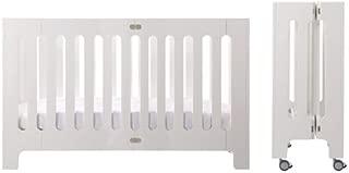 Bloom Alma Max Modern Folding 3-in-1 Convertible Crib in White (US Full Size)