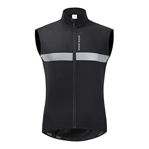 Sunbike Chaqueta de ciclismo sin mangas de lana térmica de invierno Chaleco cálido de ciclismo a prueba de viento