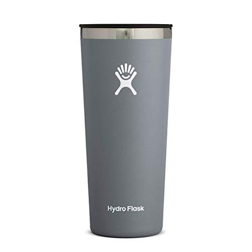 Hydro Flask Tumbler Cup - Stainless Steel & Vacuum Insulated - Press-In Lid - 22 oz, Stone