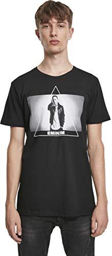 Eminem Triangle tee - Camiseta para Hombre con impresión fotográfica del Rappers, Hombre, MT385, Negro, Small