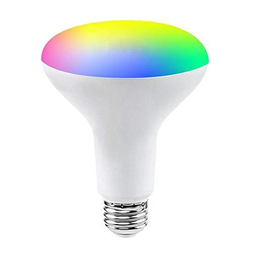 Fenteer El Cambio de Color Inteligente de 9w RGBCW WiFi Dimmable Funciona con Alexa