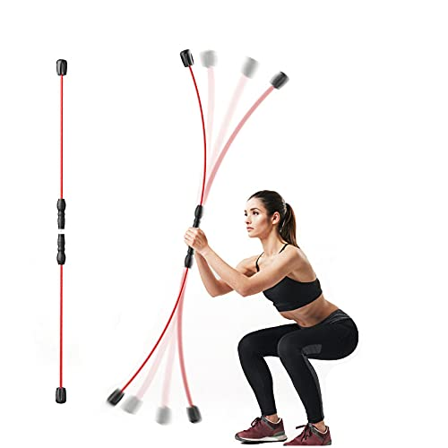 Elastic Fitness Bar, Weight Loss Exercise Fat Burning Training Tremor Stick, Multi-Functional Fitness Stretch Bar Muscle Training Stick, for Full-Body Training Muscle