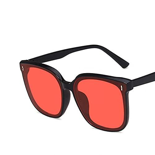 SXRAI Gafas de Sol Mujer Gafas de Sol con Montura Cuadrada Gafas de Sol Gafas de protección Ultravioleta de Gran tamaño,C2