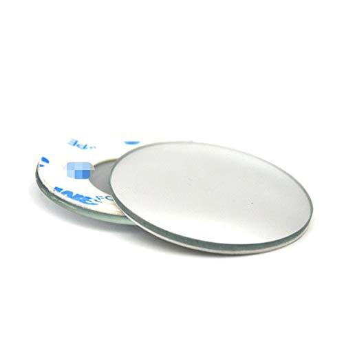 VCB 1 Paire de miroirs de Tache Aveugle pour Voiture rétroviseurs Grand Angle Ajustables - Argent