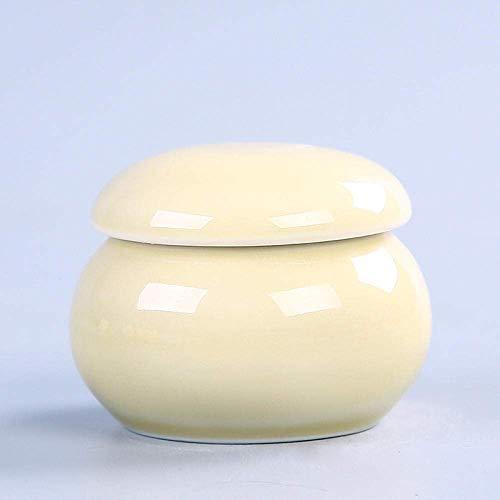 LYPY Pot à thé Boîtes à thé en céramique Mini boîtes à thé Pots scellés Pots à Poudre Petits Pots Creative Décoration de la Maison Ornements Art Boîte à thé Accessoires de Bureau Portables, Yh