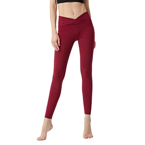 SPECIALOFFERKYZ Pantalones de yoga, CrossHigh Waist sin costuras, para correr, gimnasio, entrenamiento, control de cintura y barriga.