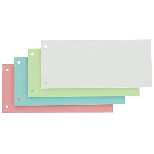 Oxford Trennstreifen, vollfarbig, gelocht, bunt, farbig sortiert, 100 Stück