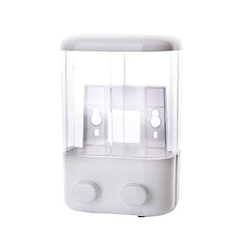 TOPBATHY - Dispensador de jabón líquido (plástico vacío, con ventosa, 2 cámaras)