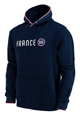 Allez Les Bleus Kapuzenpullover Frankreich - Offizielle Kollektion für Herren S blau