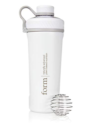 Form Insulated Stainless Steel Protein Shaker and Water Bottle | Screw Top | No Leaks | Keeps Drinks Cold for up to 24 Hours!