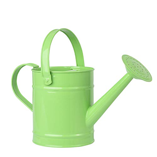 Sungmor Regadera de Metal de 1.5L (o 51oz) - Cubo de riego para jardín para niños y niños - Pequeño Equipo de riego portátil para Interiores con Tratamiento de Recubrimiento en Polvo antioxidante