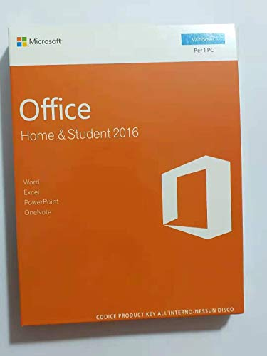 Office 2016 - Home & Student (Windows) Versione interamente italiana I Nuovo Prodotto Originale I [1 dispositivo / versione perpetua]