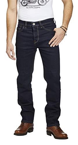 Rokker Rokkertech Raw Straight Motorrad Jeans, W40 L36